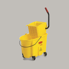 Rubbermaid Down Press Combo 32Oz Wringer Bucket Yellow