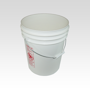 Plastic Pail 5 Gal White Bucket Recycled W/O Lid